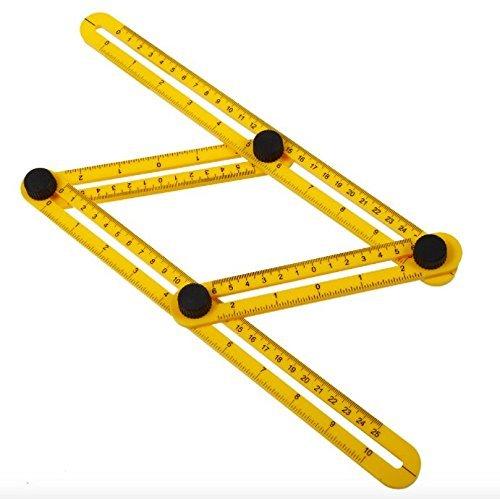 Multi-Angle Measuring Ruler metal knobs and metal bolts 2pack Leeken Template Tool