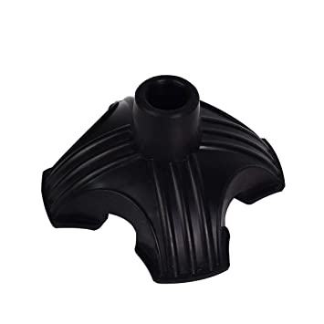 Black Quad Rubber Replacement Tip For Cane Walking Stick Crutches 3//4 inch