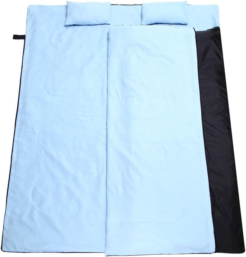 TOMSHOO Doppelschlafsack 2 Personen Camping Schlafsack mit 2 Gratis Kissen