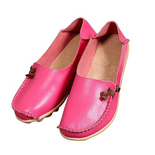 Blivener Damesschoenen Casual Loafers Wandelcomfort Zomerpantoffels Roze