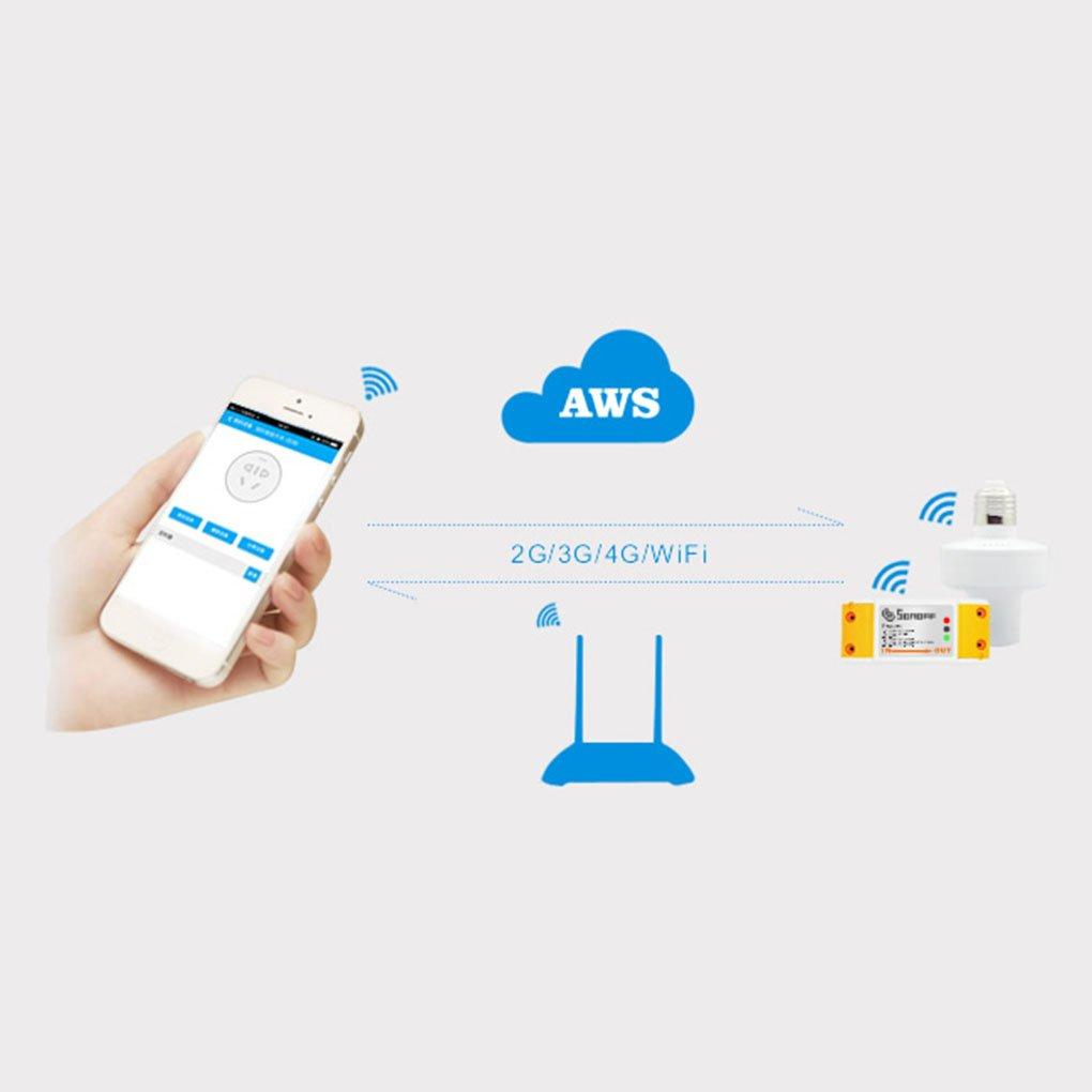 Sonoff Smart Home Wi-Fi de control remoto inal/ámbrico Sistema de Control de temporizador interruptor de encendido del interruptor mediante eWelink APP