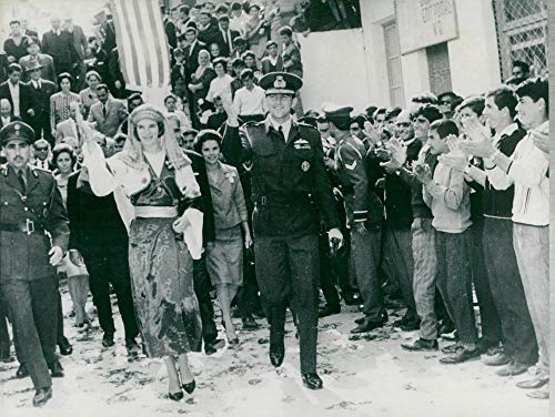 Vintage photo of King Constantin and Queen Anne-Marie of Greece visit Dodecanese Island (Best Islands To Visit From Athens)