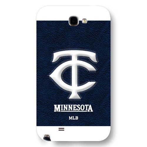 Galaxy Note 2 Case, Onelee(TM) MLB Minnesota Twins Samsung Galaxy Note 2 Case [White Frosted Hardshell]