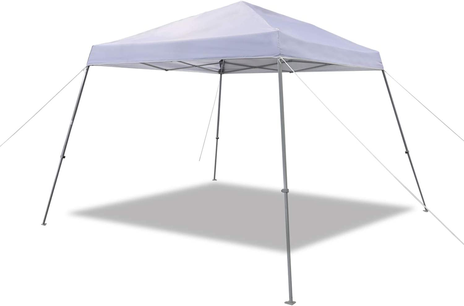 AmazonBasics Outdoor Classic Pop Up Canopy, 9ft x 9ft Top Slant Leg with Wheeled Carry, white