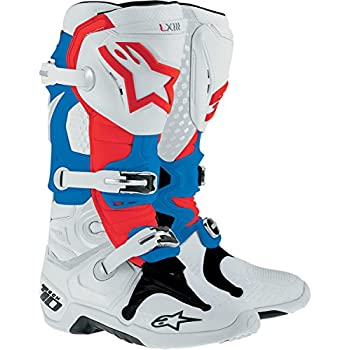 Alpinestars Tech 10 Men's Dirt Bike Motorcycle Boots - Patriot / Size 11