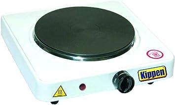 KIPPEN 1550 - Hornillo eléctrico de placa individual 1000 W, multicolor