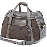 KQRNS Soft Sided Dog Carrier Cat Travel Carrier Puppy Carrier Storage Case,Fleece Bedding & Safety Lock Medium Small Dogs