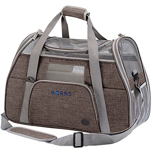 Small Dog Carrier, KQRNS Pet Carrier Airline Approved Fits Under Seat, Soft Sided Dog Carrier Cat Travel Carrier Small Animal Carrier Puppy Carrier with Storage Case ,Fleece Bedding & Safety Lock
