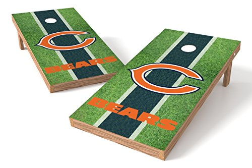 Wild Sports NFL Chicago Bears 2' x 4' Field Authentic Cornhole Game Set