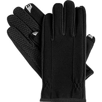 Isotoner Men's Signature  Smartouch Fleece Lined Glove,Black,Medium
