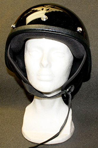 (Vector Black DOT Motorcycle Helmet 1202.2 Shorty Standard USA Made Size: M )
