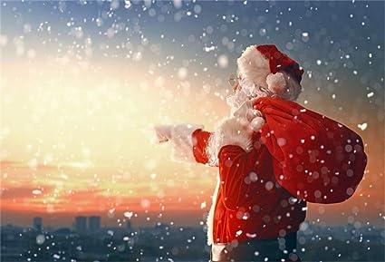 Sfondi Babbo Natale.Yongfoto 2 2x1 5m Vinile Fondali Fotografici Natale Babbo Natale Guardando La Citta Sfondi Foto Partito Studio Fotografico Puntelli Amazon It Elettronica