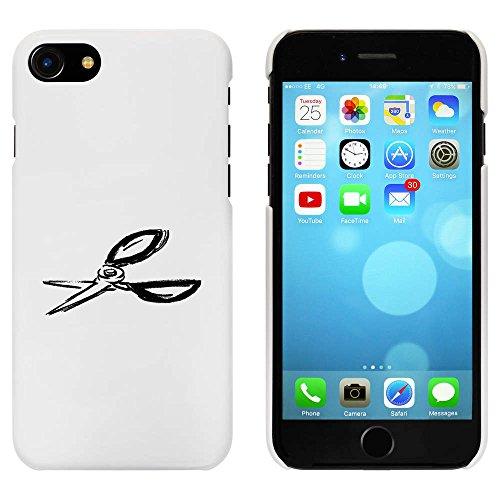 Blanc 'Paire de Ciseaux' étui / housse pour iPhone 7 (MC00079876)