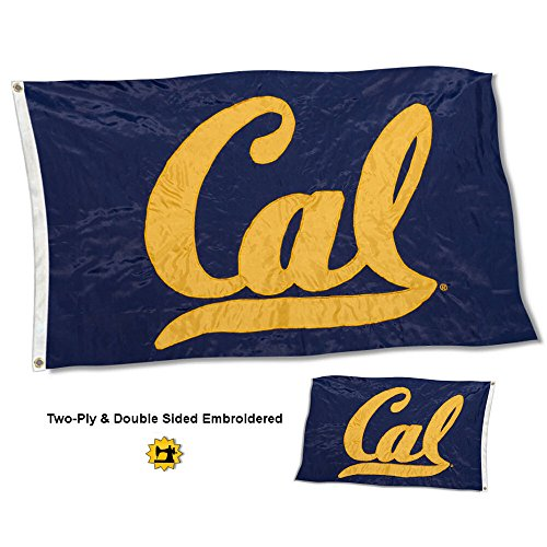 College Flags and Banners Co. Cal Berkeley Golden Bears Double Sided Nylon Embroidered Flag