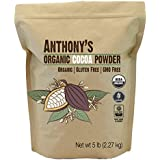 Organic Raw Cocoa Powder/Cacao Powder (5 lbs) by Anthony's, Batch Tested and Verified Gluten-Free & Non-GMO