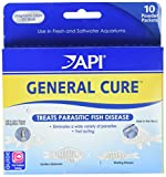 API GENERAL CURE Freshwater and Saltwater Fish Powder Medication 10Count Box