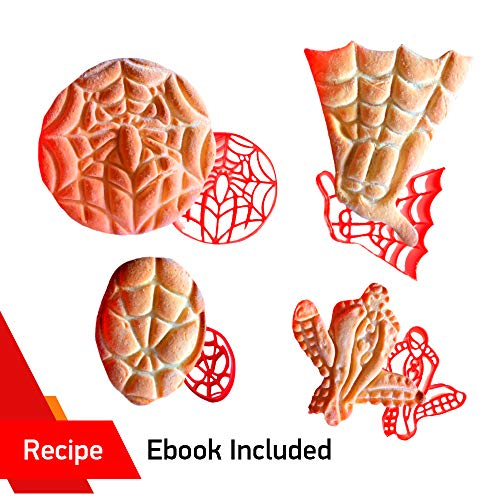 Dc Cupcakes Halloween Recipes (Spider-man Cookie Cutters set by WNF Craft - Safe 3d plastic molds of Marvel Superhero Spiderman - Variety of Large Baking Shapes - Perfect for Birthday Halloween and Holiday Parties)