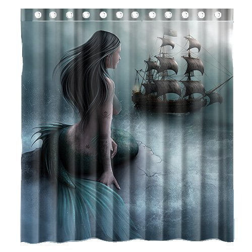 Custom Unique Design cool old tractor and cute deer Waterproof Bathroom Polyester Fabric Shower Curtain 60(w)x72(h) (Deer Shower Curtain)