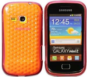 Nueva carcasa en silicona para Samsung Galaxy mini 2 S6500 con efecto Diamante - Rosa