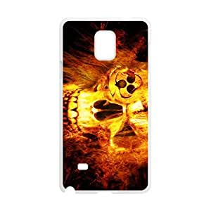 Fire Skull Pattern Hot Seller High Quality Case Cove For Samsung Galaxy Note4