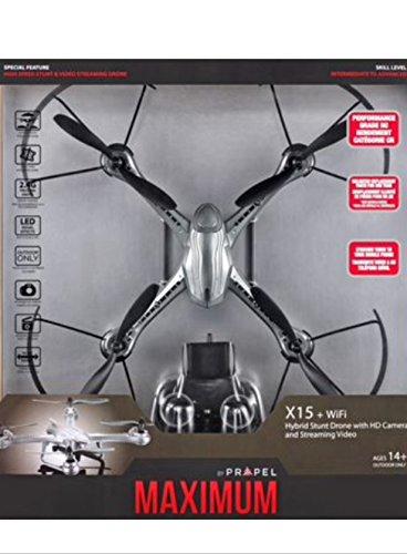 Propel VL-3592 Maximum X15 Hybrid Stunt Drone With Hd Camera – Silver