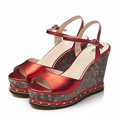 Rouge Fuxitoggo Rouge coloré Women Chaussures Étouffées Ladies Rugby Taille Shoes 37 Bottom FnPqFAWr