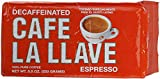 la llave coffee - Café La Llave Decaf Espresso Dark Roast, 8.8-Ounce (Pack of 12)