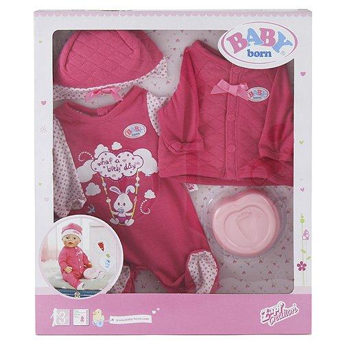 Zapf Creation 820735 - Babypuppen und Zubehör - Baby born - Deluxe Erstausstattung