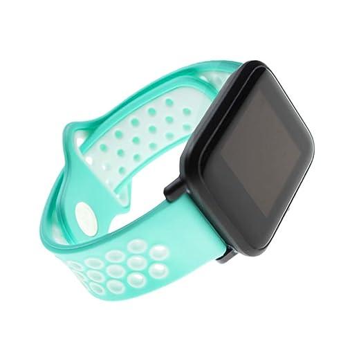 Amazon.com: Wrisky 20mm Silicon Watch Band for Xiaomi Huami ...