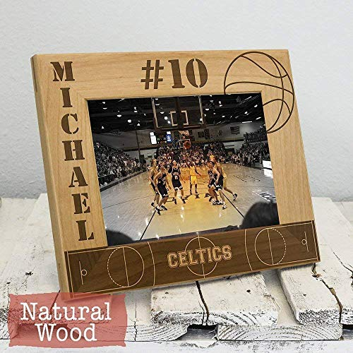 (Personalized Basketball Picture Frame - Sport Frame for Athlete - High School Sports Gift - Custom Basketball Frame - Gift for Basketball Player -)