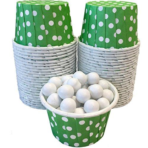 Green Polka Dot Candy/Nut Mini Baking Cups - 48 Pack