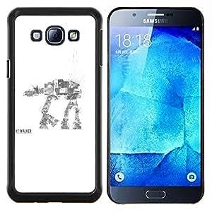 Qstar Arte & diseño plástico duro Fundas Cover Cubre Hard Case Cover para Samsung Galaxy A8 A8000 (AT AT Walker)