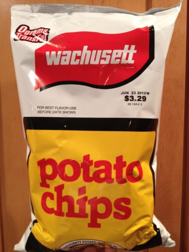 Wachusett Potato Chips, Family Size 10-ounce Bags (8 Pack) made in Massachusetts