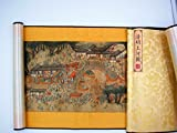 Going Up to the River On Qingming Day (清明上河圖, Qing Ming Shang He Tu), Reproduction (Bridge-Market Section), Deluxe Chinese Scroll Painting