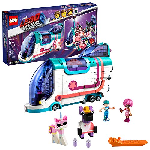 LEGO THE LEGO MOVIE 2 Pop-Up Party Bus 70828 Building Kit, Build Your Own Toy Party Bus for 9+ Year Old Girls and Boys, 2019 (1013 Pieces)