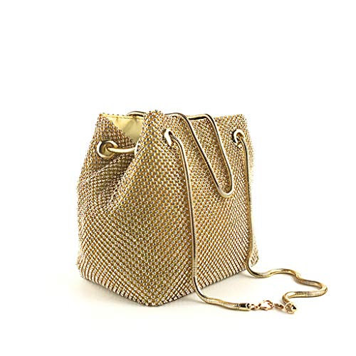 FarJing Crossbody Bags For Women ! Women Evening Bag Sequins Skewed Bucket Bag Handbag Bag(Gold)