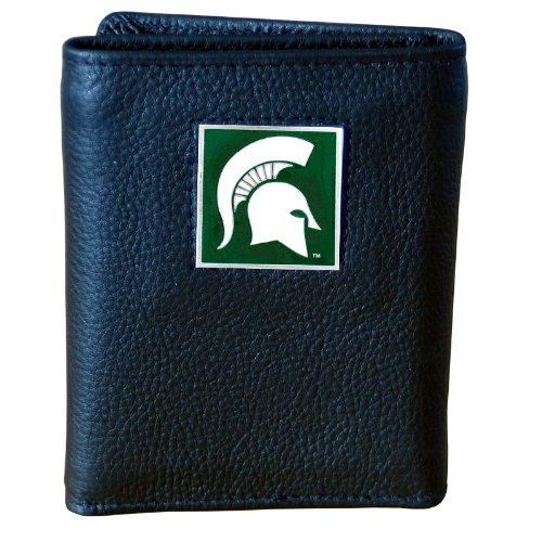 NCAA Michigan State Spartans Genuine Leather Tri-fold Wallet