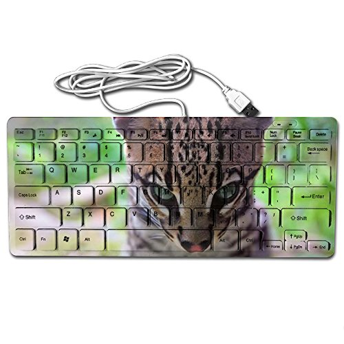 (Mortal Dream Ultrathin Mini Keyboard Clever Leopard Wired Gaming Keyboard Computer Accessories Keyboards For Laptop)