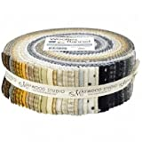 Woolies Flannel Neutral Assortment 40 - 2.5'' Strips by Bonnie Sullivan from Maywood Studios ST/MASWOF-NEU