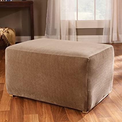 covers slipcovers with gray home and chair ottoman of slipcover size medium ottomans oversized wing designs