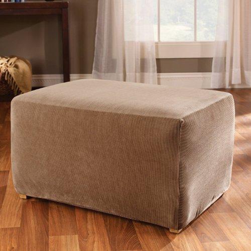 ipe - Ottoman Slipcover - Brown (SF37760) (Sofa Loveseat Chair Ottoman)