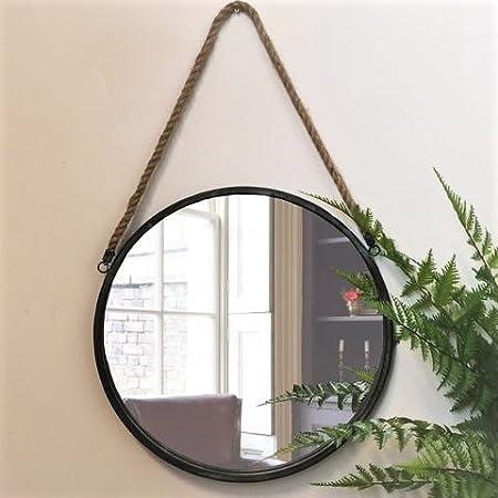 Completely new Tutti Decor Black Metal Round Cruise Mirror: Amazon.co.uk: Kitchen  YS08