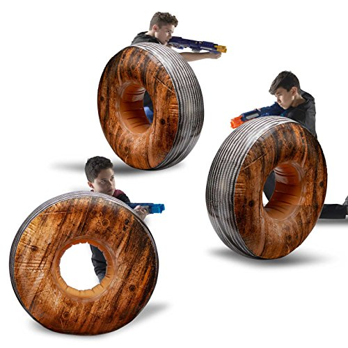 BUNKR Inflatable Battle Zone 3 Piece Cable Spool Set. (Compatible with Nerf, Laser X, X-Shot and Boomco) - Laser Battle Set