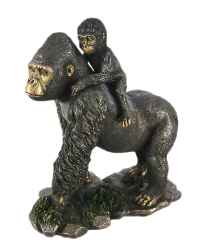 Baby Mountain Gorilla (8 Inch Animal Figure Mother Gorilla and Baby Collectible Display)