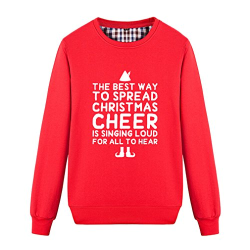 4430d39e503d Fashion The Best Way to Spread Christmas Cheer Singing Loud Sweatshirt  (L,Red)