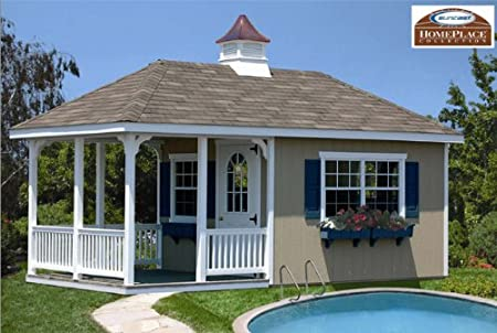 10 X 20 Pool House Storage Building Kit With Floor - Amazing Shed ...