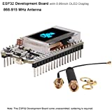 MakerFocus ESP32 Development Board WIFI Bluetooth LoRa Dual Core 240MHz CP2102 with 0.96inch OLED Display and 868/915MHZ Antenna for Arduino