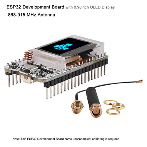 MakerFocus ESP32 Development Board WIFI Bluetooth LoRa Dual Core 240MHz CP2102 with 0.96inch OLED Display and 868/915MHZ Antenna for Arduino by MakerFocus (Image #9)