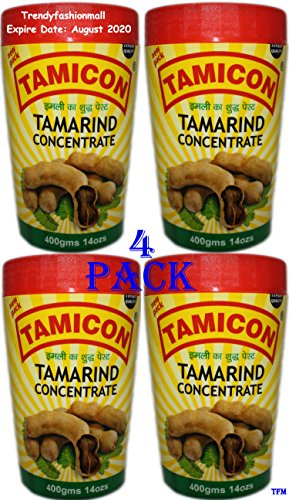 Tamicon Tamarind Paste 100% Natural 14 oz - 4Pack