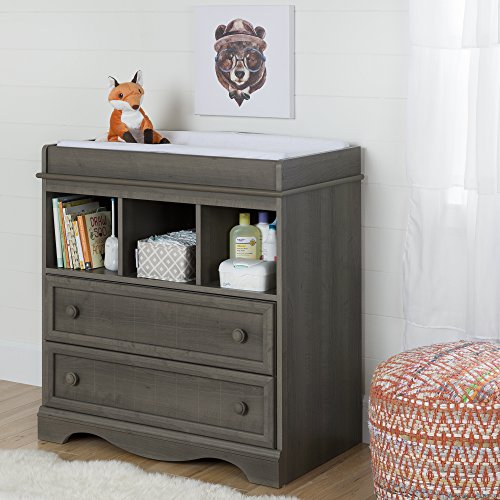 Desk Country Maple (South Shore Savannah Changing Table with Drawers, Gray Maple)